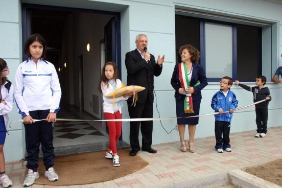 Inaugurazione palestra Crespiatica.
