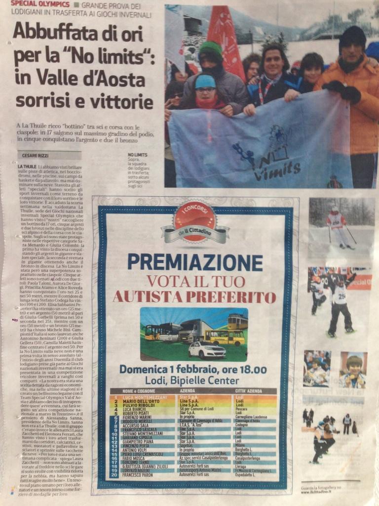 """Articolo da """"Il Cittadino"""""""
